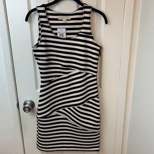 NWT Michael Kors Bandage Blck & Wht Stripe Dress.0